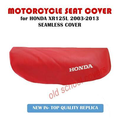 Honda Xr125L Xr125 L 2003-2013 Seamless Red Seat Cover With White Logos  Xr 125
