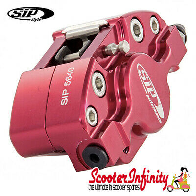 Brake Caliper SIP (Aluminium, Anodised Red) (Grimeca,`98/MY, front, Vespa)