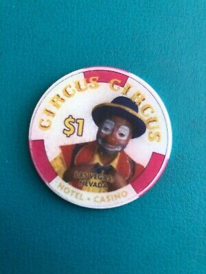 CIRCUS CIRCUS LAS VEGAS CASINO CHIP ISSUED 1999 Obsolete