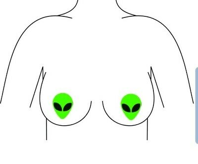 Alien Nipple Pasties Neon Green Pasties