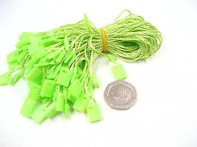 green Tag hang tag String Lock Fastener Labeling Tagging Supplies square end