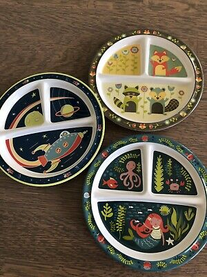 SugarBooger divided plates Baby Toddler Feeding Lot Melamine plastic Space