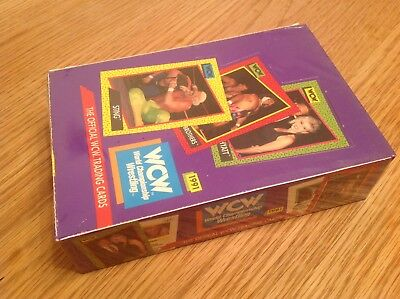 UNOPENED BOX WCW IMPEL WRESTLING TRADING CARDS 1991 36 Packs