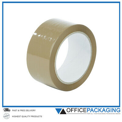 LONG LENGTH PACKING TAPE STRONG - BROWN 48mm x 66M PARCEL TAPE ✔ HIGH QUALITY