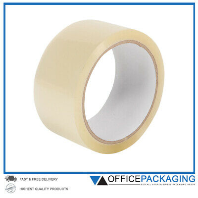 ✔ LONG LENGTH PACKING TAPE STRONG - CLEAR 48mm x 66M PARCEL TAPE ✔ HIGH QUALITY