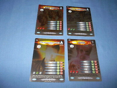 Doctor Who Battles In Time Ultmate Monsters Cards Rare No's. 638/641/696/733