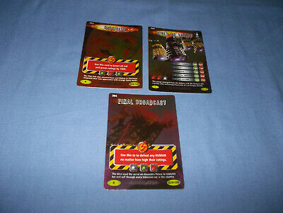 Doctor Who Battles In Time Annihilator Cards Rare No's. 304/320/323