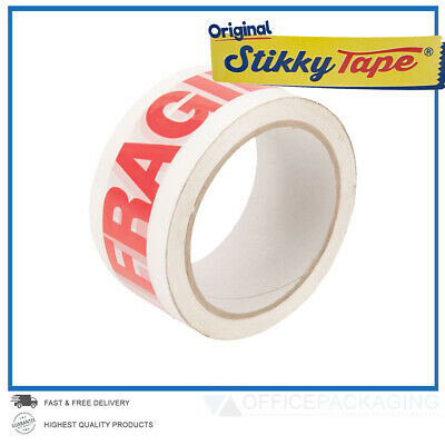 ✔ LONG LENGTH PACKING TAPE STRONG - FRAGILE 48mm x 66M PARCEL TAPE HIGH QUALITY