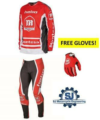 Hebo Montesa Trials Pants & Jersey Clothing Free Gloves Massive Saving All Sizes