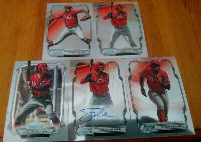 Cincinnati Reds 2019 Bowman Sterling Lot India Auto Plus Base