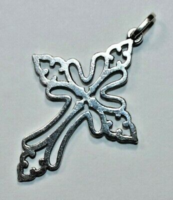 Beautiful RETIRED JAMES AVERY Sterling Silver St Cecilia Open Cross Pendant