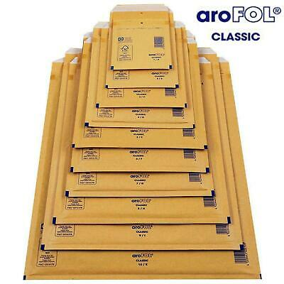 Arofol Classic Gold Bubble Envelopes Mailers Bags High Quality All Size MULTIBUY