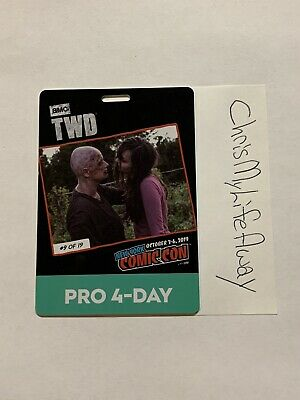 SOLD OUT New York Comic Con 4 Day Pro Pass Badge In Hand! Activated! NYCC 2019
