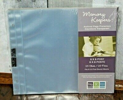 We R Memory Keepers 8 x 8 Post Page Protectors 50061-2  25 Sheets  Scrapbooking