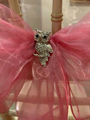 39 Diamanté Owl Brooches   for Chair Sashes - weddings