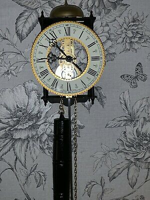 Pretty Vintage Antique Style Skeleton Wall Clock, German Made, Perfect Working