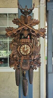 Vintage 8 Day Black Forest Cuckoo Clock
