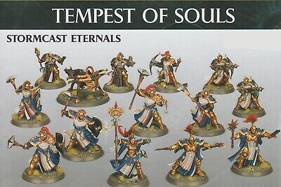 Warhammer Age of Sigmar: Tempest of Souls Stormcast (13 Mini + Cards)  Free Ship