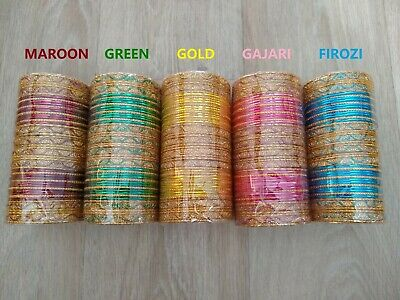 24 x Indian Bangles Chudiya Designer Bollywood Women Fashion Bracelets New