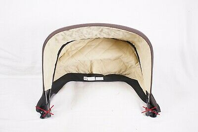 Bugaboo Frog/Cameleon Canopy Sun Shade Black/Cream Fabric Only - No Clamps/Wires