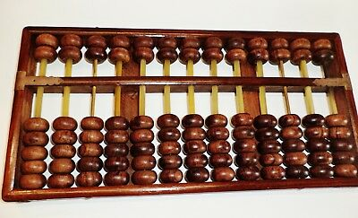 Chinese Hainan Huanghuali Wood abacus made in late Qing Dynasty  海南黄花梨牛筋串条