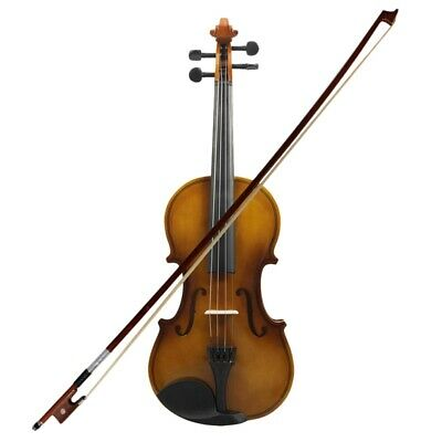 1X(4/4 Full Size Acoustic Violin Fiddle Wood With Case Bow Rosin Violin J5Z1)