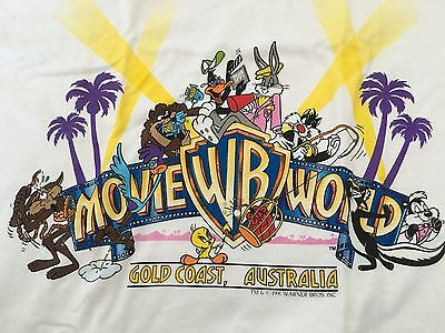 Warner Bros Vintage Movieworld Gold Coast Looney Tunes Character T-Shirt #66 New
