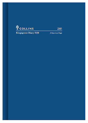 2020 Diary◉Collins◉Kingsgrove A5◉2 Days to Page 2DTP◉281.P59-20◉Hardcover◉BLUE◉