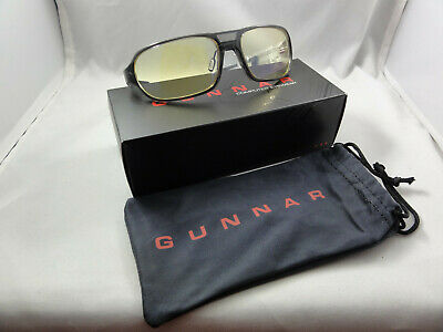 Gunnar Optiks Trooper Advanced Computer/Gaming Eyewear Glasses - Smoke - Amber