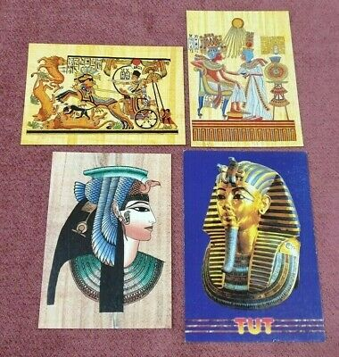 Egyptian Postcards King Tut And Art Lot Of 4