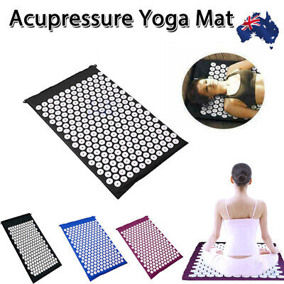 Acupressure Massage Yoga Lying Mat for Stress/Pain/Tension Relief Body relax AU