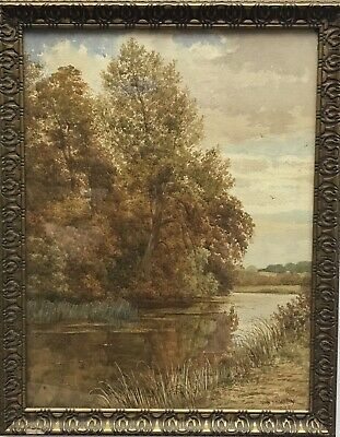 Antique Late 19th century Victorian watercolour painting signed John Thornley