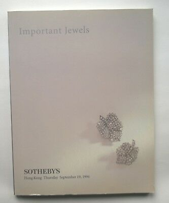 Sotheby's Important Jewels. Hong Kong September 19, 1996. Auktionskatalog