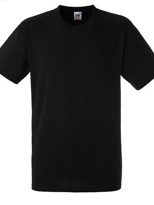 3X Fruit Of The Loom Heavy Cotton Tshirt  Black Sz L Bnip