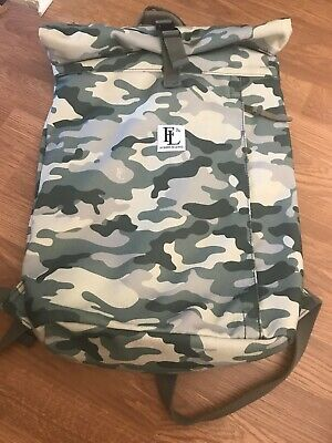 forbes and lewis roll top camouflage print backpack