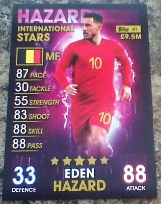 2019 Topps Match Attax 101 International Stars #41 EDEN HAZARD mint