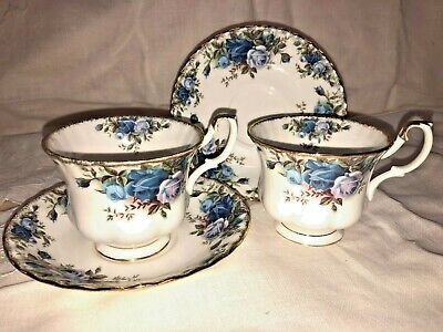 Vintage Royal Albert  'Moonlight Rose'  Two Medium Cup and Saucers