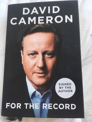 DAVID CAMERON  For The Record Book 1/1 CONSERVATIVES PARTY TORY EU BREXIT