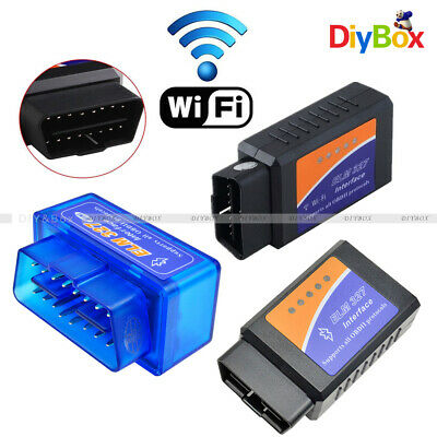 ELM327 OBD2 WiFi Bluetooth OBDII Car Diagnostic Scanner Interface 2A MT3608 New