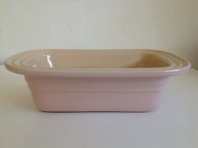 "Le Creuset Pink Stoneware Loaf Baking Dish 11"" X 7"""