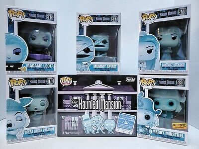 Funko Pop! Disney Haunted Mansion Set and Target Exclusive Pop Tee Size L Rare