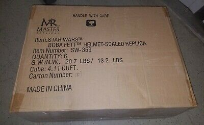 Star Wars Master Replicas  Sw-359 Case Of 6 Boba Fett Scaled Helmets