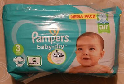 Pampers Baby Dry Mega Pack 100 couches T3 (6-10kg)
