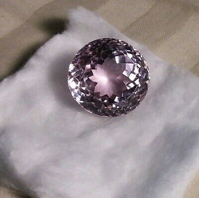 46.87 ct. Egl certified Stunning Natural Untreated Pink Kunzite modified round