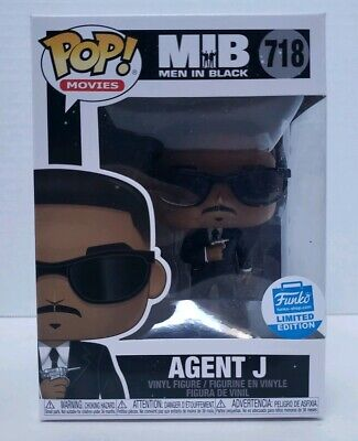 Funko POP! Movies MIB Agent J #718 Men In Black Funko Shop Exclusive Free Ship