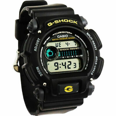Casio G-Shock Chronograph Men's Black Watch DW9052-1B With Tin and Paperwork!