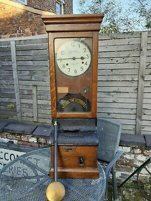 Very large Antique National Time Recorder Clocking in machine/Time recorder