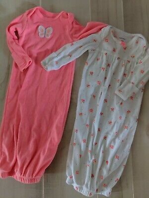 Carter's Girl Newborn Infant Sleeper Set Of 2