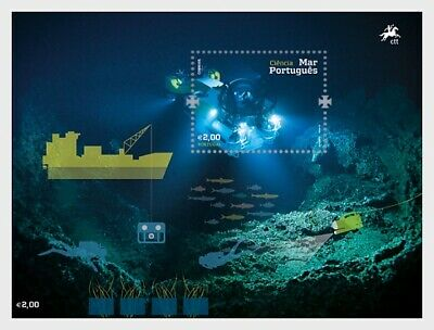 """Portugal - """"SHIPS ~ THE PORTUGUESE SEA ~ UNDERWATER SUBMERSIBLE"""" MNH MS 2015"""