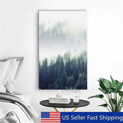 Modern Abstract Forest Tree Canvas Print Art Painting Home Wall Decor   US